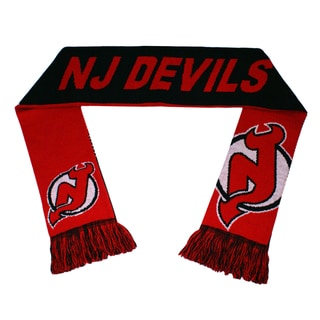 Forever Collectibles New Jersey Devils Split Logo Reversible Scarf