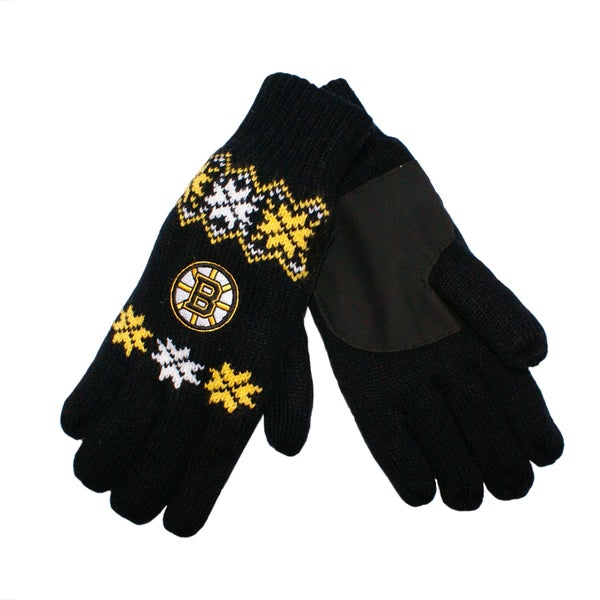 Forever Collectibles Boston Bruins Lodge Gloves with Padded Palms