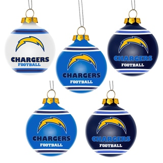 Forever Collectibles San Diego Chargers Shatterproof Ball Ornament Set