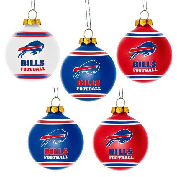 Forever Collectibles Buffalo Bills Shatterproof Ball Ornament Set