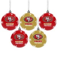 Forever Collectibles San Francisco 49ers Shatterproof Ball Ornament Set