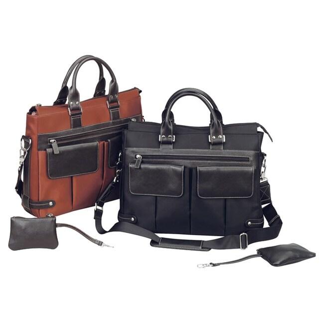 Goodhope Bellino Ladies Leather Flapover Notebook Laptop Shoulder Tote