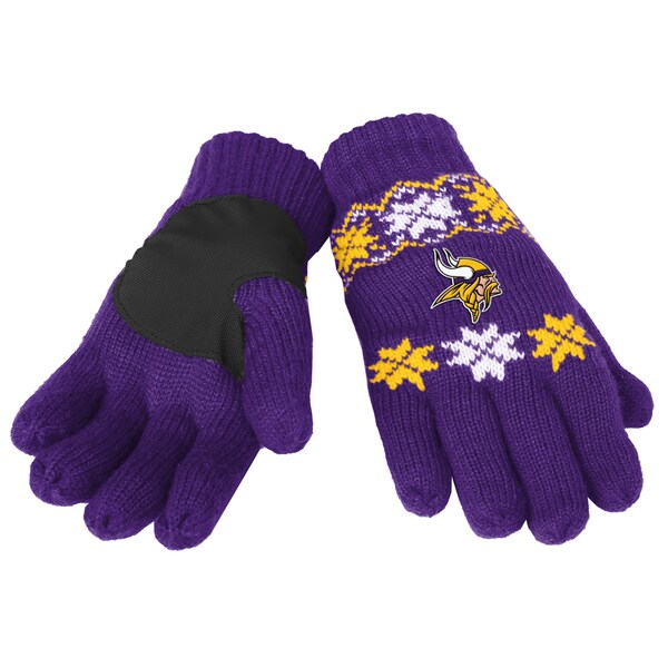 Forever Collectibles Minnesota Vikings Lodge Gloves with Padded Palms