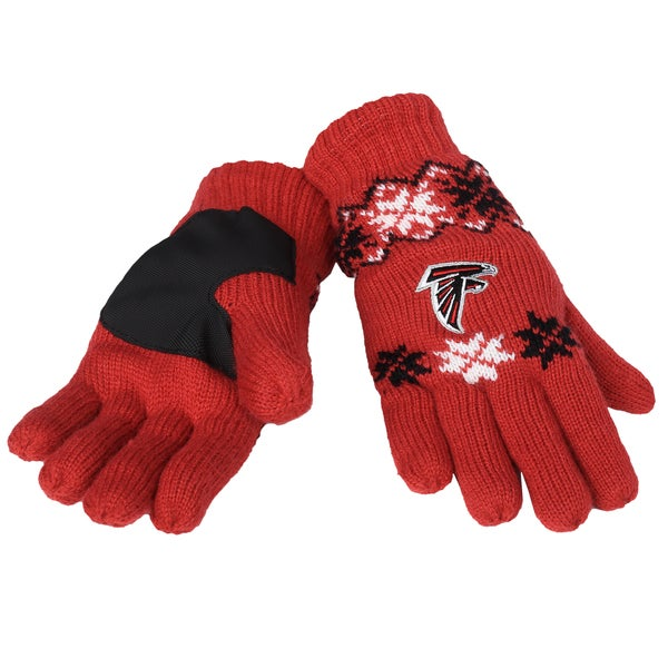 Forever Collectibles Atlanta Falcons Lodge Gloves with Padded Palms