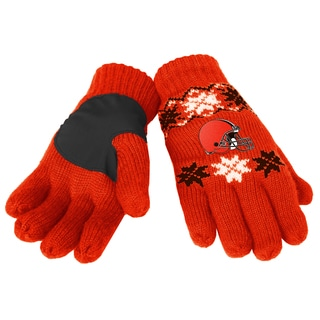 Forever Collectibles Cleveland Browns Lodge Gloves with Padded Palms