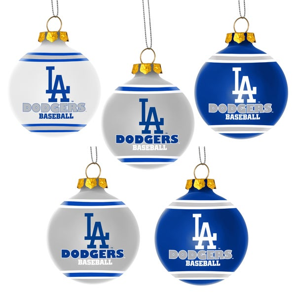 Forever Collectibles Los Angeles Dodgers Shatterproof Ball Ornament Set