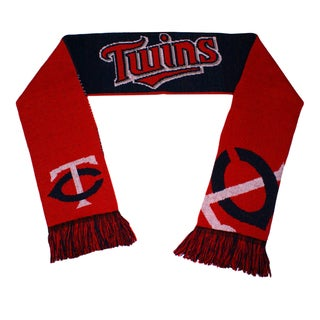 Forever Collectibles Minnesota Twins Split Logo Reversible Scarf