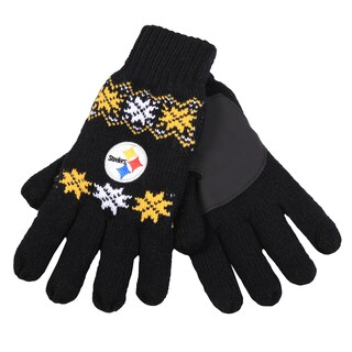 Forever Collectibles Pittsburgh Steelers Lodge Gloves with Padded Palms