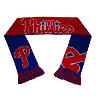 Forever Collectibles Philadelphia Phillies Split Logo Reversible Scarf