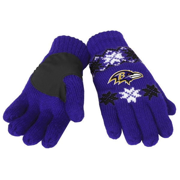 Forever Collectibles Baltimore Ravens Lodge Gloves with Padded Palms
