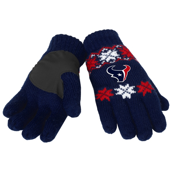 Forever Collectibles Houston Texans Lodge Gloves with Padded Palms