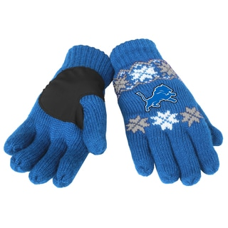 Forever Collectibles Detroit Lions Lodge Gloves with Padded Palms