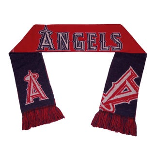 Forever Collectibles Los Angeles Angels Split Logo Reversible Scarf