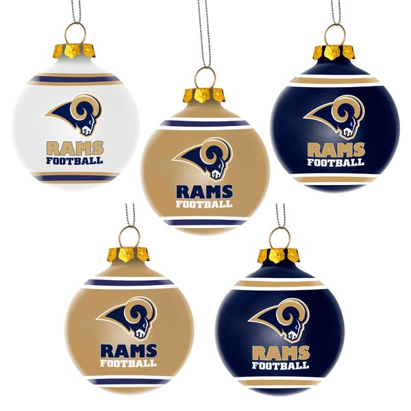 Forever Collectibles St. Louis Rams Shatterproof Ball Ornament Set