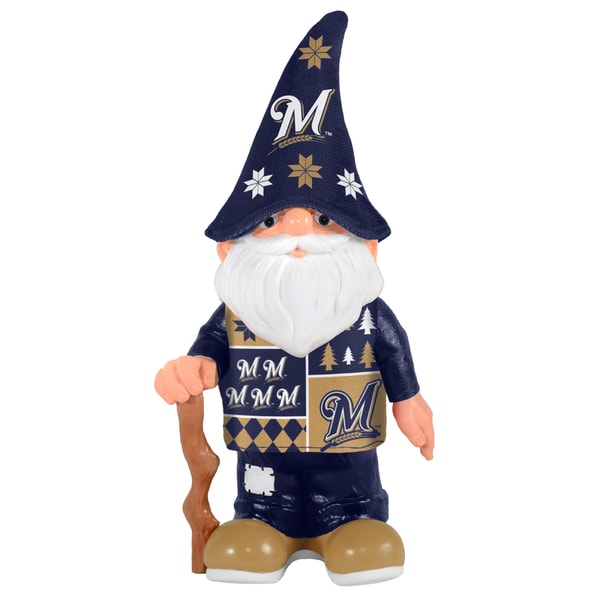 Forever Collectibles Milwaukee Brewers Real Ugly Sweater Gnome