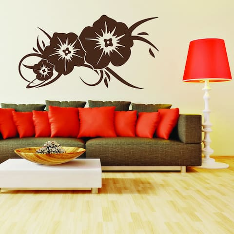 Flower Greeting Vinyl Mural Wall Decal