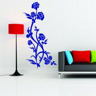 Rose Bush Vinyl Mural Wall Decal
