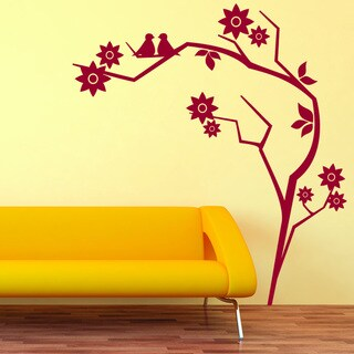 Retro Branch Vinyl Mural Wall Decal