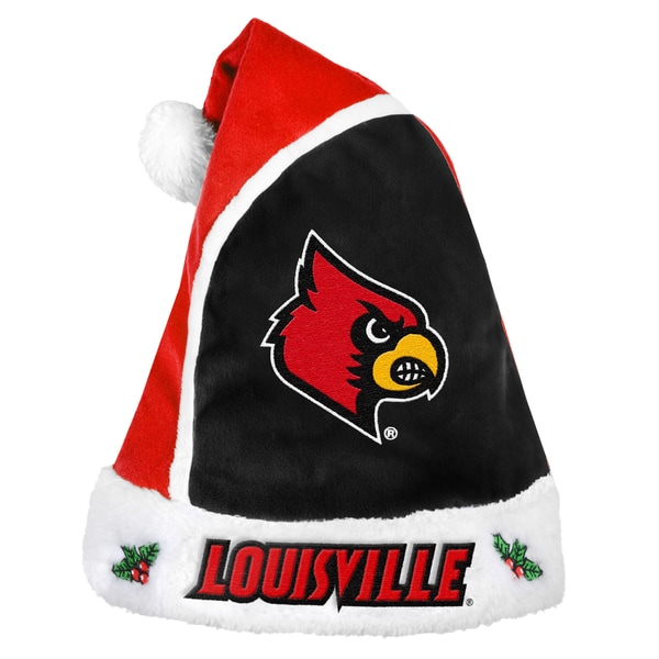Forever Collectibles Louisville Cardinals 2015 NCAA Polyester Santa Hat