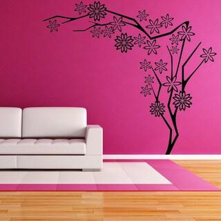 Flower Tree Iii Vinyl Mural Wall Decal