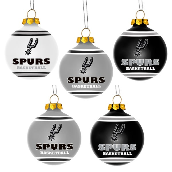 Forever Collectibles San Antonio Spurs Shatterproof Ball Ornament Set