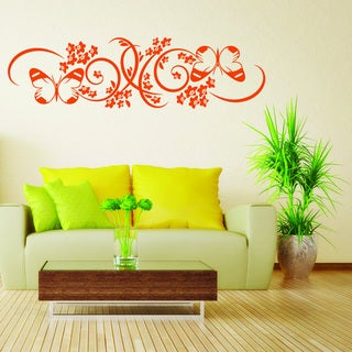 Butterfly Branch Vinyl Mural Wall Decal (More options available)