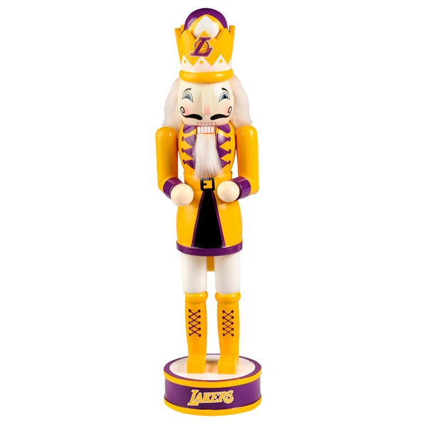 Forever Collectibles Los Angeles Lakers 14-inch Collectible Nutcracker