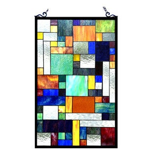 Chloe Lighting Tiffany Style Art Deco Design Window Panel/Suncatcher