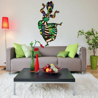 African Woman Dancing Vinyl Mural Wall Decal