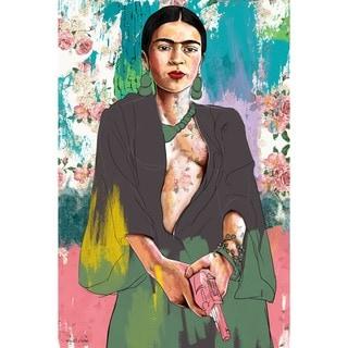 Maxwell Dickson 'Pink Gun' Modern Canvas Wall Art