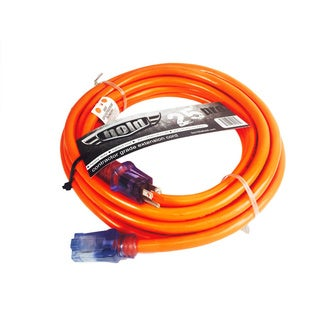 Bold 25-Foot 10/3 SJTW Lighted End Industrial Grade ProCord Orange