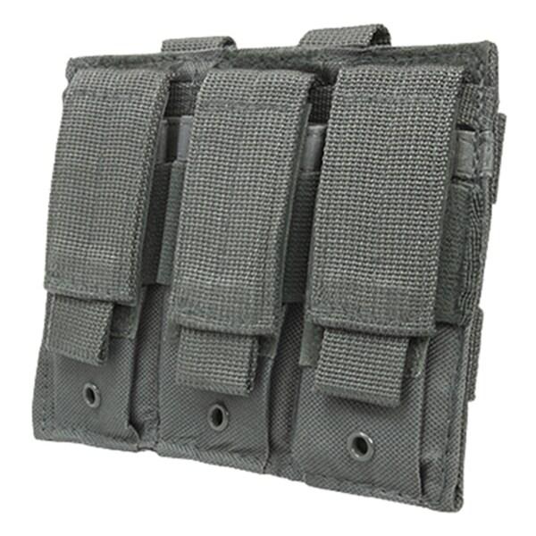 NcStar Triple Pistol Mag Pouch Urban Gray
