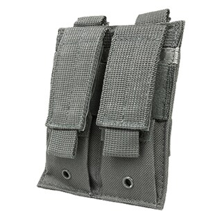 NcStar Double Pistol Mag Pouch Urban Gray