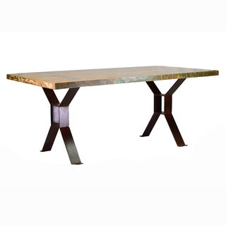Reclaimed Red Iron Dining Table