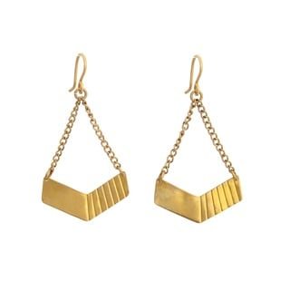 Brass Hopper Earrings
