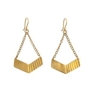Brass Hopper Earrings