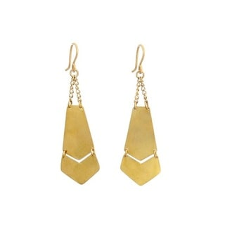 Brass Degas Earrings