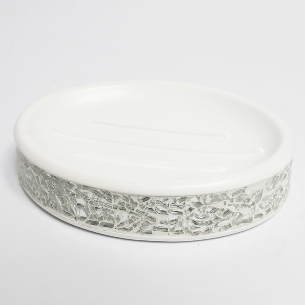 black crackle bathroom accessories. Silver Cracked Glass and Ivory Hand Crafted Bath Accessory Collection Free  Shipping On Orders Over 45 Overstock com 17856322Silver Crackle Bathroom Accessories How To Use