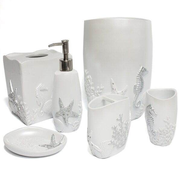 Sea Horse and Starfish Hand Crafted Bath Accessory Collection