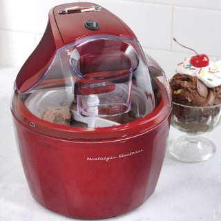 Nostalgia ICM150RETRORED 1.5-Quart Retro Ice Cream Maker