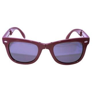 Folding Purple Sunglasses