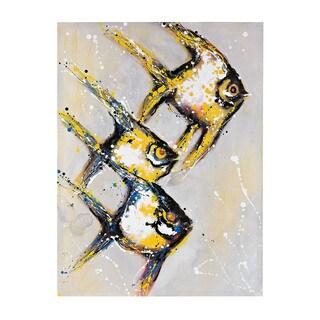 Piranha' Oversized Oil On Canvas Wall Art