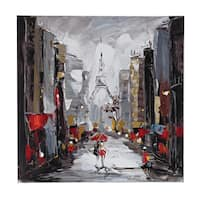 Paris Scene Oil On Canvas Wall Art