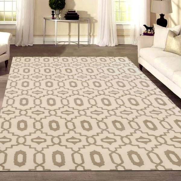 "Admire Home Living Bronte Orb Ivory Area Rug - 5'3"" x 7'3"""