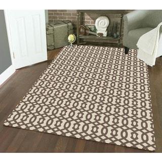 Admire Home Living Bronte Link Ivory Area Rug (5'3 x 7'3)