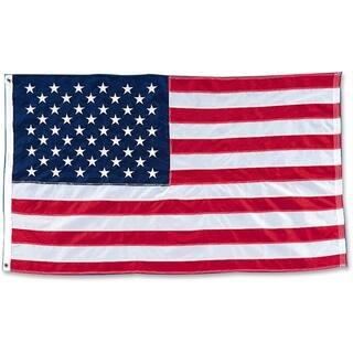 "Baumgartens Heavyweight Nylon 60"" x 96"" American Flag https://ak1.ostkcdn.com/images/products/10811242/P17856519.jpg?impolicy=medium"