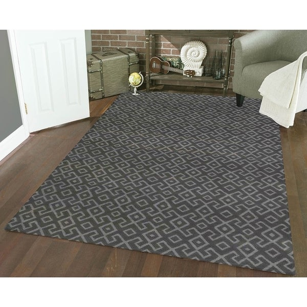 Admire Home Living Bronte Aztec Dark Grey Area Rug - 7'10 x 10'6