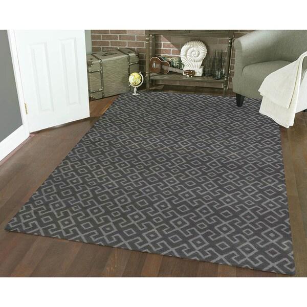Admire Home Living Bronte Aztec Dark Grey Area Rug 7 10 X