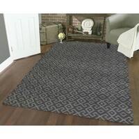 Admire Home Living Bronte Aztec Dark Grey Area Rug (7'10 x 10'6)