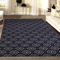 "Bronte Disc Navy Area Rug - 5'3"" x 7'3"""